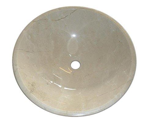 Crema Benevolenza bianco pietra marmo bagno bacino 40 cm x 13 cm (B0069)