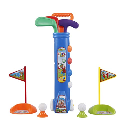 Liberry Kids Golf Clubs Set, Golf Toy with Golf Cart, 3 Golf Clubs, 2 Practice Holes, 2 Golf Tees & 6 Balls, Early Educational, Outdoors Exercise Toy for Kid Ages 1, 2, 3, Years Old, Boys & Girls