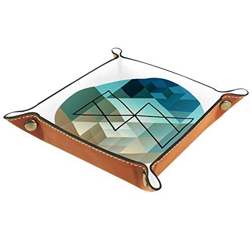 BestIdeas - Cesta cuadrada de almacenamiento de 20,5 x 20,5 cm, con moderno gráfico abstracto de bola A, caja organizadora en la mesa para el hogar, oficina, dormitorio, Moderno diseño abstracto Graph Ball D, Small