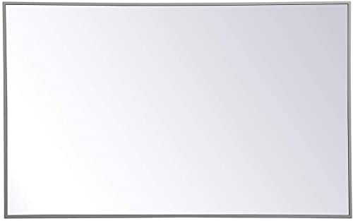 wholesale Elegant lowest Decor new arrival Metal Frame Rectangle Mirror 30 inch x 48 inch in Grey sale