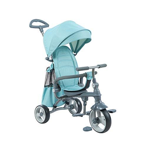 BLWX - Tricycle Pliant pour Enfants Tricycle pour Enfants Bicyclette pour bébé HSR199 Ultra Light Poussette (Couleur : Green)