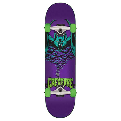 Creature Skateboard Komplett Bat - 7.75 Inch Purpur (One Size, Purpur)