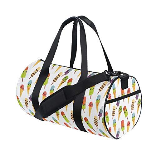 HARXISE Bolsa de Viaje,Impresión Deliciosa Colorida del Helado,Bolsa de Deporte con Compartimento para Sports Gym Bag