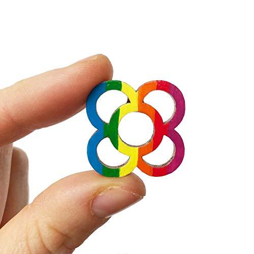 Pin flor de Barcelona arco iris, Pisando Barcelona, idea regalo para mujer