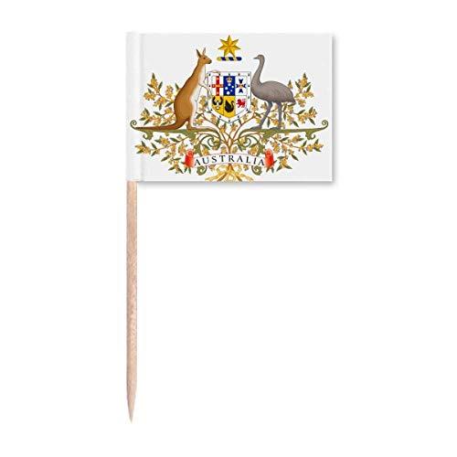 Canberra Australien-Emblem Zahnstocher Flaggen Marker Topper Party Dekoration