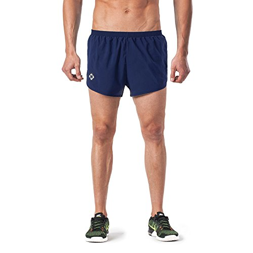 Naviskin Men's Lightweight Quick Dry Running Shorts Training Pace Shorts Navy Size L
