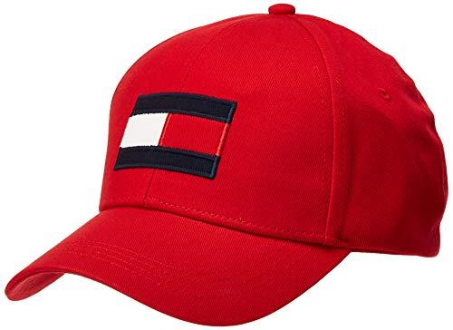 Tommy Hilfiger Herren Big Flag Baseball Cap, Rot (RED 659), One Size (Herstellergröße: OS)