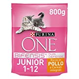 Purina One Bifensis Crocchette Gatto Junior 1-12 Mesi Ricco...