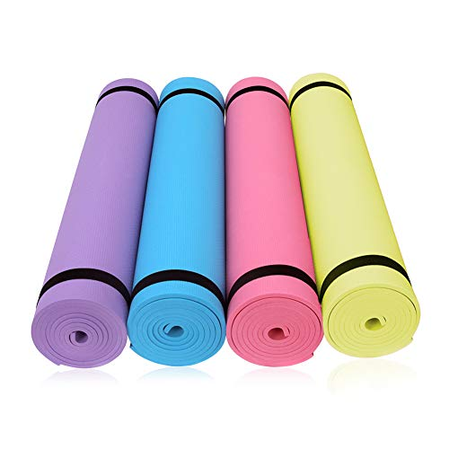 Tapis de yoga ultra épais et antidérapant Hongfutng pour yoga, pilates, étirements, méditation, exercises au sol et remise en forme, 3653U14CN6IER9EXVPS3W, bleu, 173*60*0.4cm