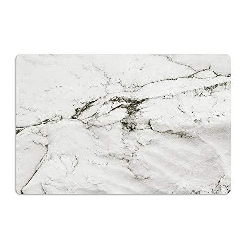 ZengBuks 2 Teile/Satz Marmor Muster Anti-Slip Wärmeisolierte PVC Esstisch Küche Kaffee Tee Tischset Geschirr Pad Matte - Weiß