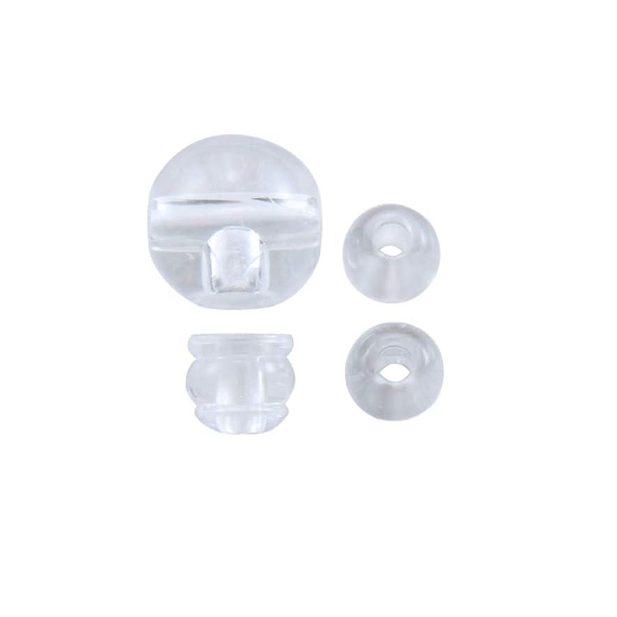 展示会学校の先生おなじみのPC透明 親玉 3つ穴 Tホール ボサ 天玉 セット 数珠 パーツ (10mm)