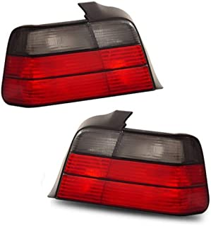 SPPC 4 Door Taillights Red/Smoke Assembly Set For BMW 3 Series E36 - (Pair) Driver Left and Passenger Right Side Replacement