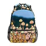 Poppy Capsules Nature Poppy Seeds School Mochila Mochila de lona de gran capacidad, mochila de viaje casual para niños, adultos, adolescentes, mujeres y hombres