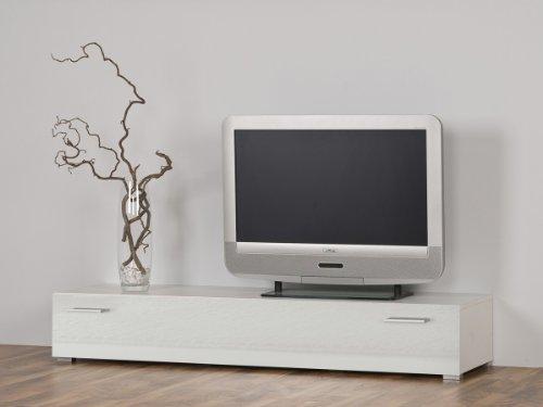 Dreams4Home Lowboard TV-Möbel TV-Board TV-Bank Unterschrank, Weiß glänzend - Breite 100 oder 150 cm, Größe/Breite:100 cm