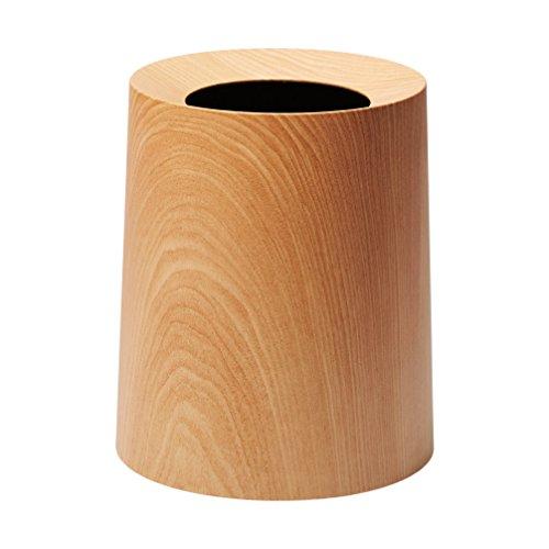 ideaco (イデアコ) フタなしゴミ箱 オークウッド 木目 容量11.4L Tubelor HOMME(チューブラーオム)