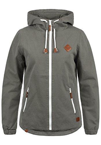 Blend SHE Bibi Damen Übergangsjacke Mantel Parka leichte Jacke mit Kapuze, Größe:M, Farbe:Granite (70147)