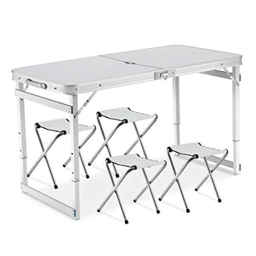 zyy Campingtafel buiten, opvouwbaar, verstelbare tafelhoeken, aluminiumlegering en opbergtas