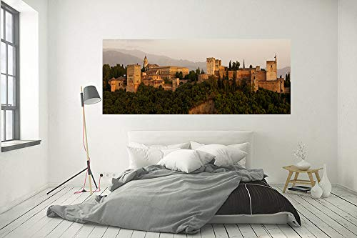 Wayshop | Cuadro XXL PVC 5 mm | Cuadro Gran Formato Alhambra de Granada | Ideal para dormitorios | Diseño Elegante | Medidas 200 cm x 60 cm