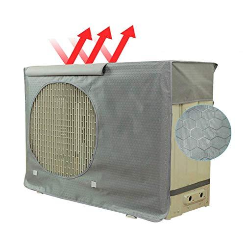 AimdonR Außenklimaanlage Abdeckung Wasserdicht Staubdicht Schutzabdeckung des Außengeräts mit Schnalle Sonnen, Regen, Schnee, Wind