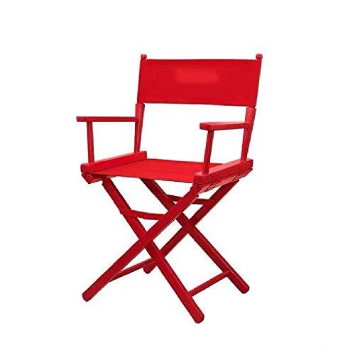 XYLUCKY Vorsitzender des Heavy Duty Folding Director, Wood Frame Directors Chair, Unterstützung 150Kg,Rot