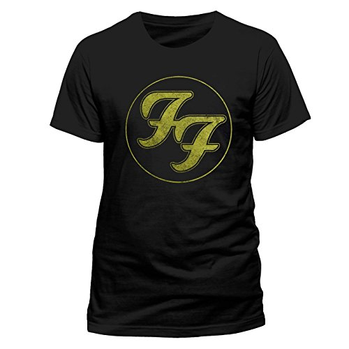 Foo Fighters - Camiseta - Logo in Gold Circle