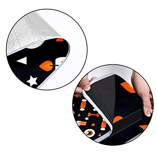 Ameolone Halloween Candle & Eye Ball Pattern-01 Large Picnic Outdoor Blanket Water-Resistant Handy Mat ToteGreat for Beach and Camping on Grass Spring Summer