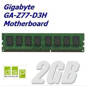 DSP Memory 2GB Speicher/RAM für Gigabyte GA-Z77-D3H Motherboard
