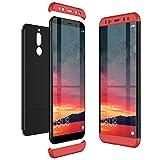 CE-Link Funda Huawei Mate 10 Lite Carcasa Fundas para Huawei Mate 10 Lite 360 Grados 3 en 1 Desmontable Ultra-Delgado Anti-Arañazos Case Protectora - Rojo + Negro