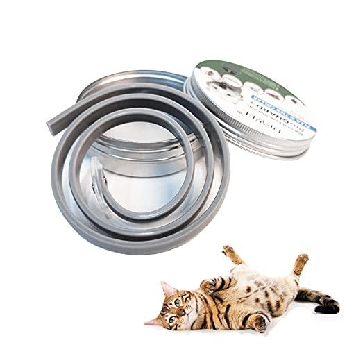 DEWEL Collar Antiparasitos Perro y Gato contra Pulgas,Garrapatas y Mosquitos,Tamaño Ajustable e Impermeable para Mascota Pequeño Mediano Grandes Versión Mejorada de Aceites Esenciales Naturales