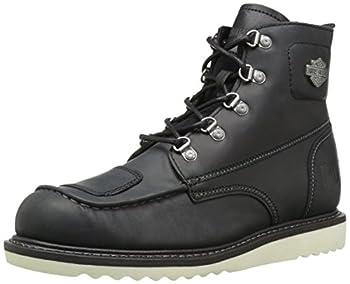 HARLEY-DAVIDSON FOOTWEAR Men s Hagerman Motorcycle Boot black 11.5 Medium US