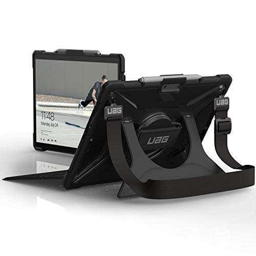 Urban Armor Gear Plasma Hülle für Microsoft Surface Pro X (Microsoft zertifiziert, Type-Cover kompatibel, Surface Pen Halterung, Standfunktion, Schultergurt) - transparent