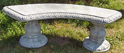 Casa Padrino Jugendstil Gartenbank/Parkbank 138 x 45 x H. 48 cm - Gebogene Sitzbank mit wunderschönen Verzierungen - Gartenmöbel - Special!