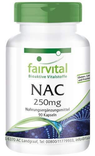 NAC 250mg - N-Acetil-Cisteína - Aminoácido - 90 Cápsulas - Calidad Alemana