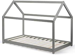 IDMarket - Lit cabane 90x190 cm Neel Gris