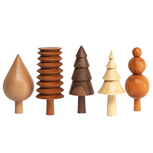 Forge Creative The Arboretum - Dekobaum, Dekofigur - Baum - 5er Set - Woodland Set - Random - von Hand gefertigt - jedes Stück EIN Unikat - unterschiedliche Holzarten