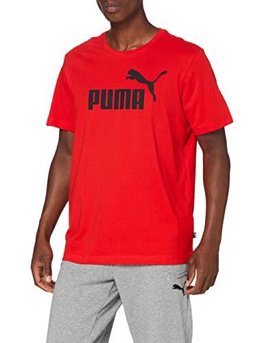 PUMA Logo tee Camiseta, Hombre, Rojo, XXL