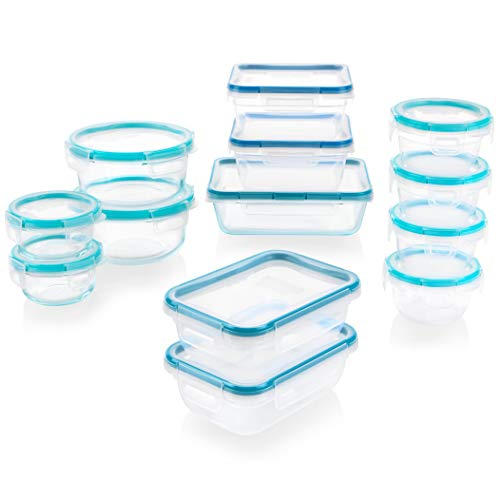 Snapware Total Solution Glass and Plastic Food Storage Set (26-Piece, BPA Free, Meal Prep, Leak-Proof)