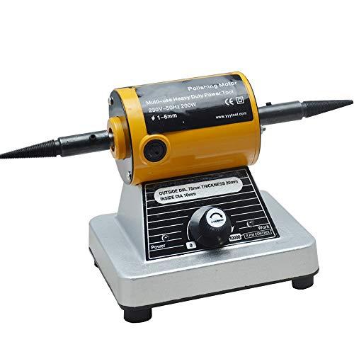 QWERTOUR 10000rpm Mini Bench Grinder polijstmachine Bench Lathe polijstmachine voor metaal, glas, steen sieraden gereedschap