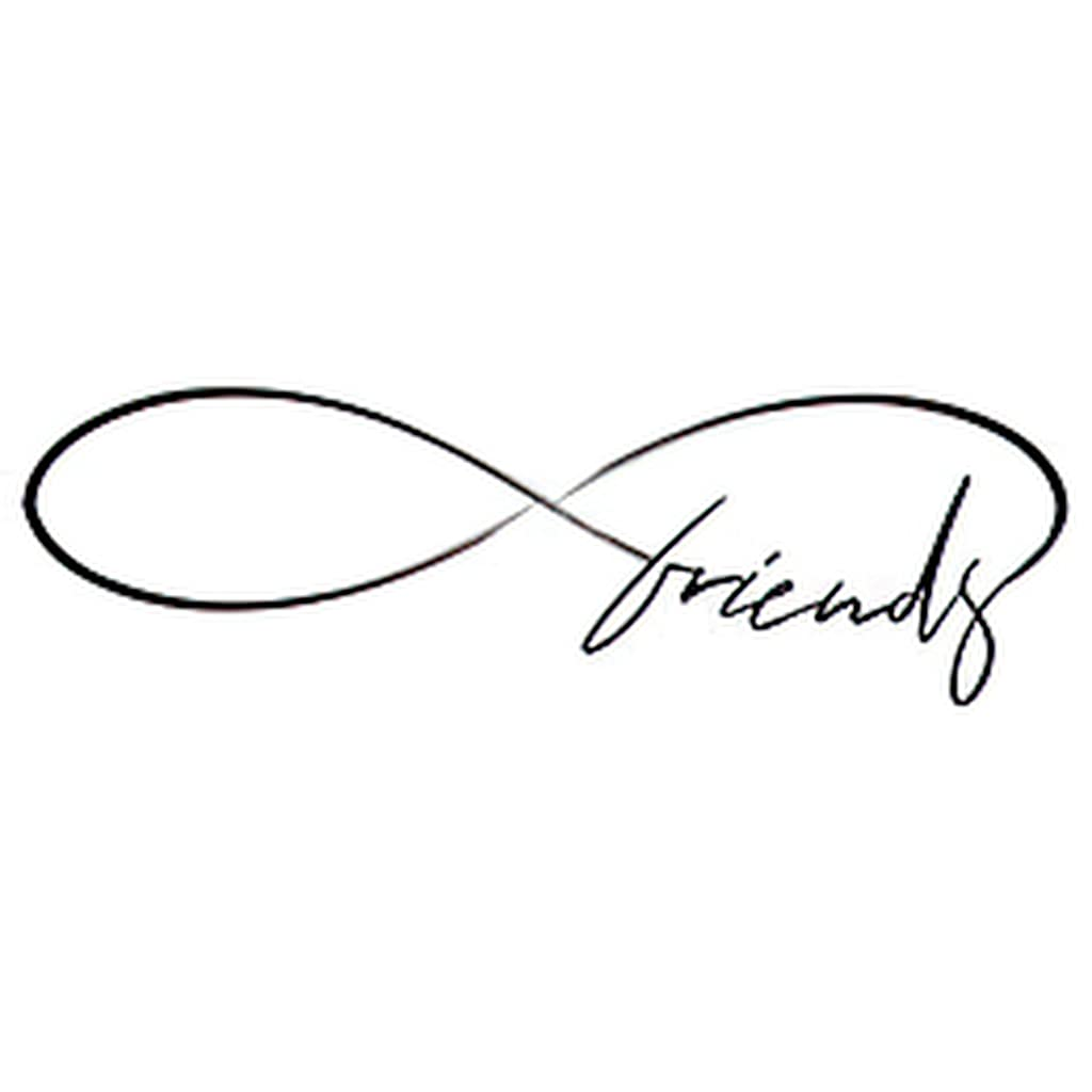 6 67% OFF of fixed price Sheets Temporary Tattoos Friends Infinity Call Shape Lovely A surprise price is realized in