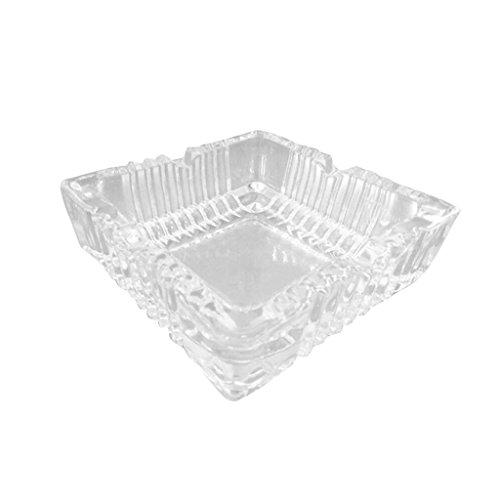 Hongyan Ashtray Cristal Cendrier Cadeau Maison Salon Salle De Bains Bar Hôtel Bureau Table Basse Rétro Simple Transparent Verre Carré Grand A+ (Taille : Small)
