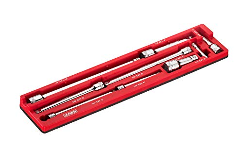 ARES 70753-9-Piece Extension Bar Set - Includes 1/4-inch, 3/8-inch, and 1/2-inch Drive Extension Bars - Magnetic Organizer for Ideal Storage