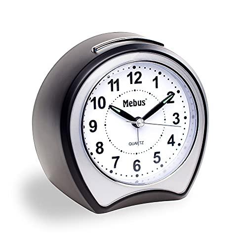 Mebus Väckarklocka, plast, svart, normal