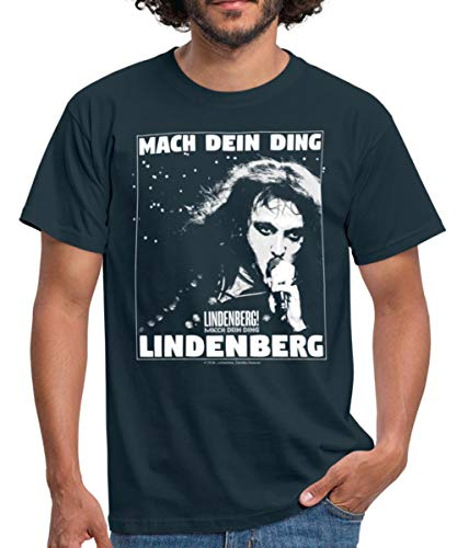 Lindenberg! Mach Dein Ding! Spruch Porträt Männer T-Shirt, M, Navy