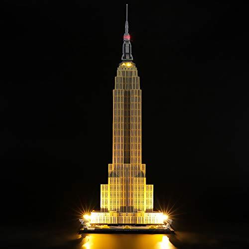 LIGHTAILING Licht-Set Für (Architecture Empire State Buildinb) Modell - LED Licht-Set Kompatibel Mit Lego 21046(Modell Nicht Enthalten)