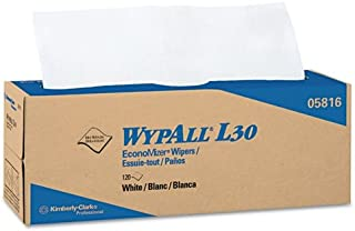 WYPALL L30 Wipers, 16 2/5 x 9 4/5, White, Pop-Up Box