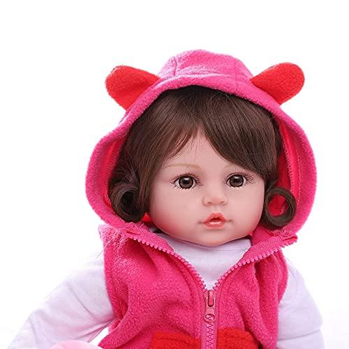 ZIYIUI 24 Pouces 60CM Réaliste Reborn Poupée Fille Fait main Réaliste Poupée avec une petite poupée cerf Cadeaux d'anniversaire et de Noël , âge3 +