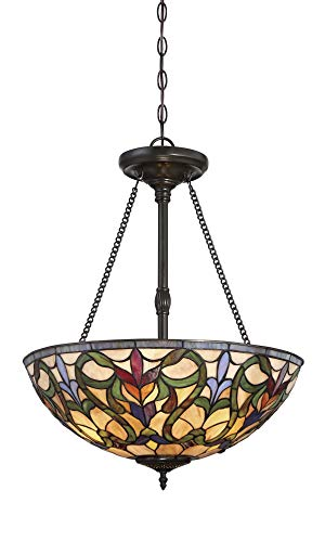 Fine Art Lighting Reverse Hanging Tiffany Pendant Light,...