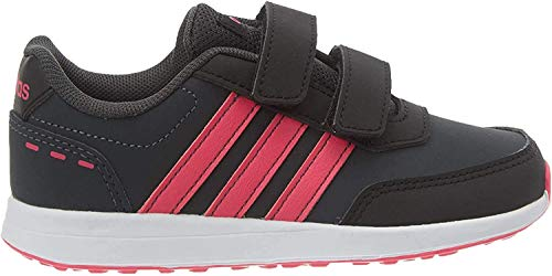 adidas Unisex-Child VS Switch 2 CMF Sneaker, Carbon/Shock Pink/Footwear White, 29 EU