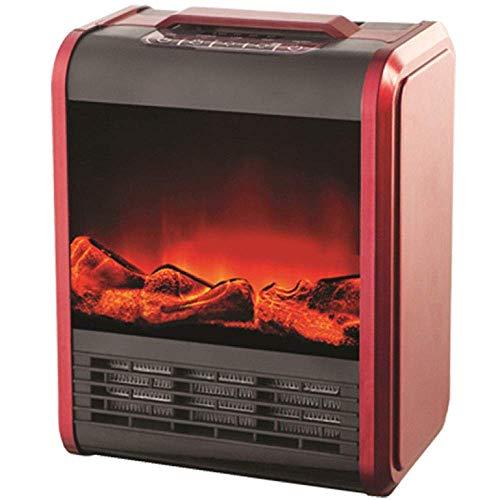Alta calidad Independiente chimenea portátil de calentamiento de la estufa eléctrica chimenea de fuego portátil moderna zona de ocio con efecto de control de termostato ajustable realista llama y prot