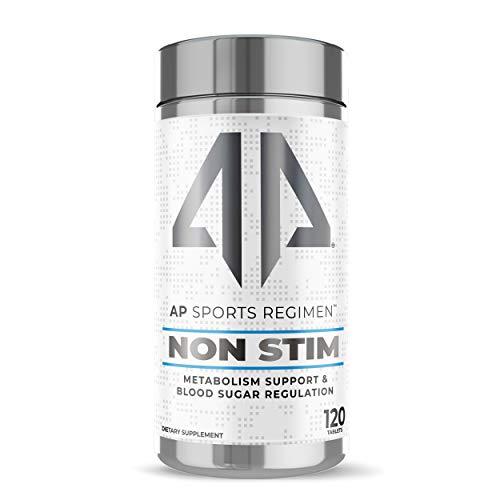 Non STIM Fat Burner by AP Sports Regimen | Metabolism Support & Blood Sugar Regulation | Zero Stimulants | Insulin Control | 120 Tablets – 30 Serving
